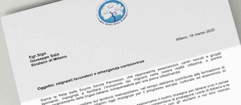 Lettera al sindaco G. Sala: migranti lavoratori ed emergenza Coronavirus