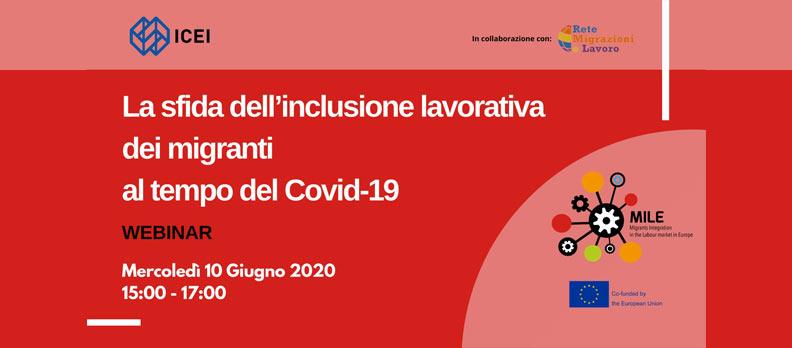 Webinar: La sfida dell'inclusione lavorativa dei migranti al tempo del Covid-19
