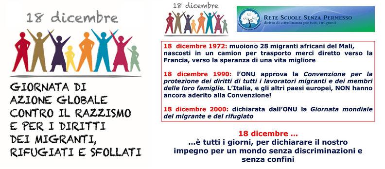 18 Dicembre: Giornata internazionale per i diritti dei migranti